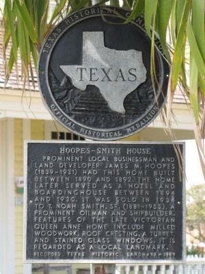 Hoopes-Smith House Marker image. Click for full size.