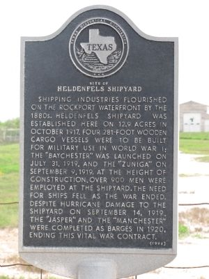 Site of Heldenfels Shipyard Marker image. Click for full size.