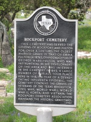 Rockport Cemetery Marker image. Click for full size.