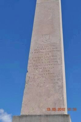 Mexican War Monument (side 2) image. Click for full size.