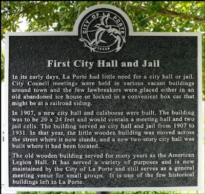 First City Hall and Jail Marker image. Click for full size.