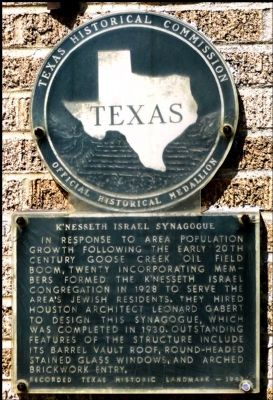 K'Nesseth Israel Synagogue Marker image. Click for full size.