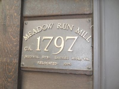 The Meadow Run Grist Mill Marker image. Click for full size.