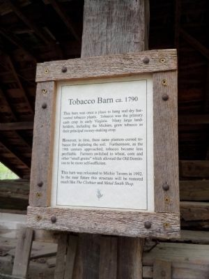 Tobacco Barn ca.1790 Marker image. Click for full size.