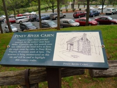 The Piney River Cabin Marker image. Click for full size.