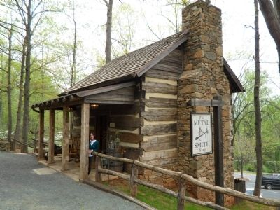The Piney River Cabin Metal Smith Shop image. Click for full size.