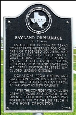 Bayland Orphanage Marker image. Click for full size.