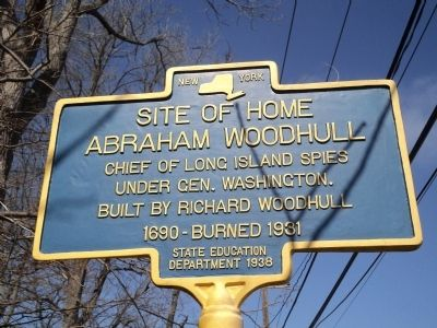 Abraham Woodhull Home Marker image. Click for full size.