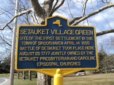 Setauket Village Green Marker image. Click for full size.