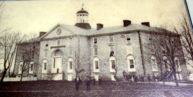 Earliest Known Photo of West College