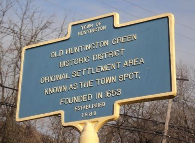 Old Huntington Green Marker image. Click for full size.