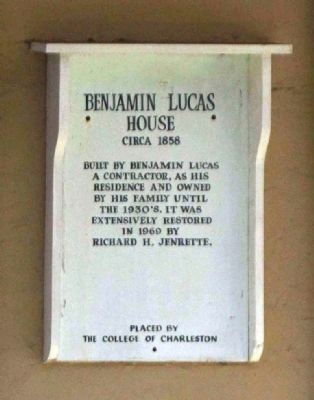 Benjamin Lucas House Marker image. Click for full size.