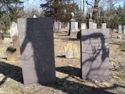 Graves of Colonel William Tangier Smith and Madam Martha image. Click for full size.