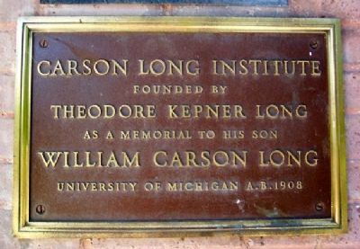 Carson Long Institute Marker image. Click for full size.