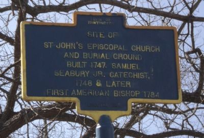 St. John's Episcopal Church Marker image. Click for full size.