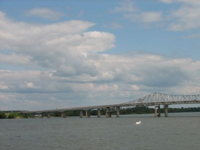 Bridges over the Tennessee River in Decatur image. Click for full size.