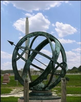 Armillary Sundial mentioned in the marker image. Click for full size.