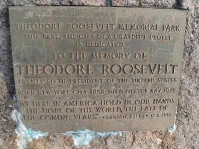Theodore Roosevelt Memorial Park Marker image. Click for full size.