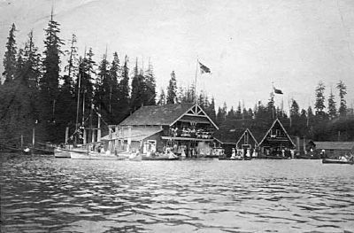 Vancouver Rowing Club from Coal Harbor (1903) image. Click for full size.