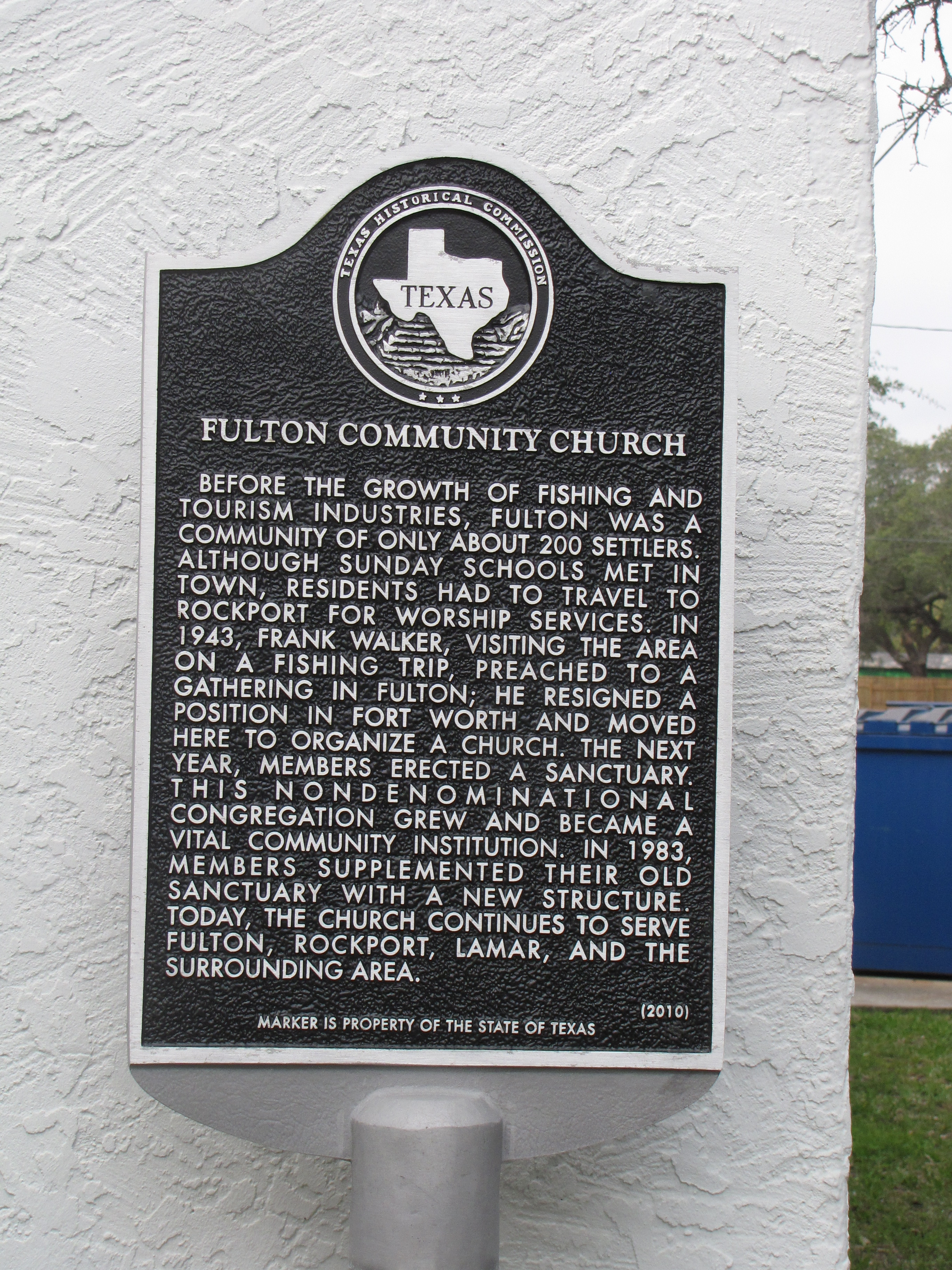 Fulton Community Church Marker