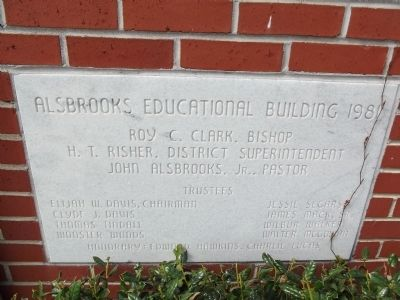 Educational Building Dedication Stone image. Click for full size.