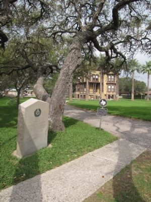 Home of George W. Fulton w/marker in foreground image. Click for full size.