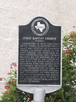 First Baptist Church of Rockport Marker image. Click for full size.