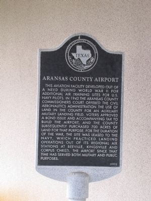 Aransas County Airport Marker image. Click for full size.