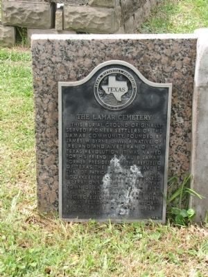 Lamar Cemetery Marker image. Click for full size.