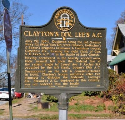 Clayton's Div., Lee's A.C. Marker image. Click for full size.