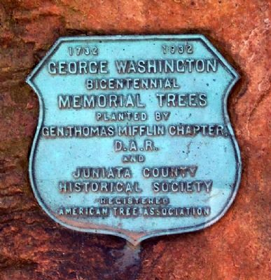 Juniata County Courthouse Memorial Trees Marker image. Click for full size.