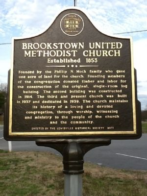 Brookstown United Methodist Church Marker image. Click for full size.