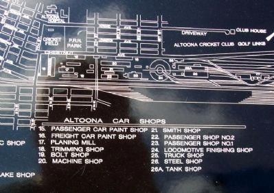 Altoona Works Schematic on Marker image. Click for full size.