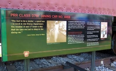 PRR Class D78F Dining Car No. 4468 Marker image. Click for full size.