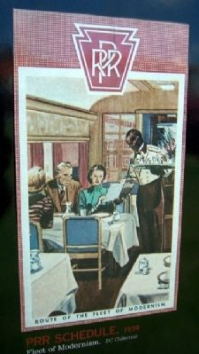 Image on PRR Class D78F Dining Car No. 4468 Marker image. Click for full size.
