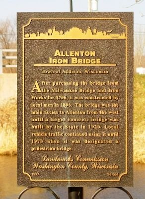 Allenton Iron Bridge Marker image. Click for full size.