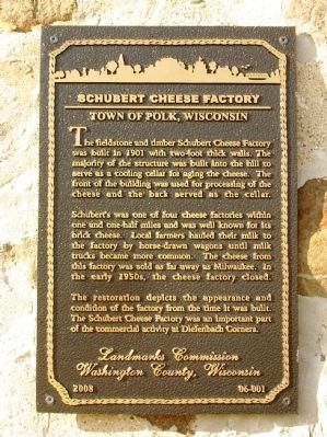 Schubert Cheese Factory Marker image. Click for full size.