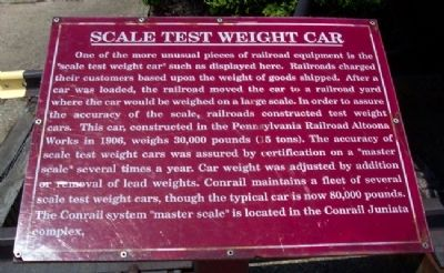 Scale Test Weight Car Marker image. Click for full size.