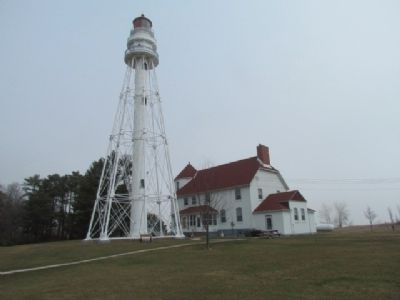 Rawley Point Lighthouse and Living Quarters. image. Click for full size.