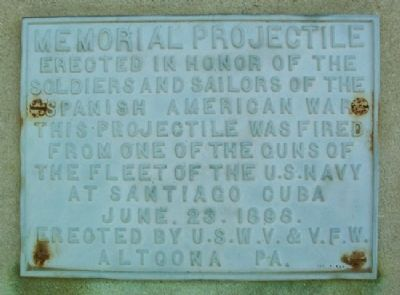 Memorial Projectile Marker image. Click for full size.