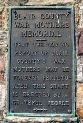 Blair County War Mothers Memorial Marker image. Click for full size.