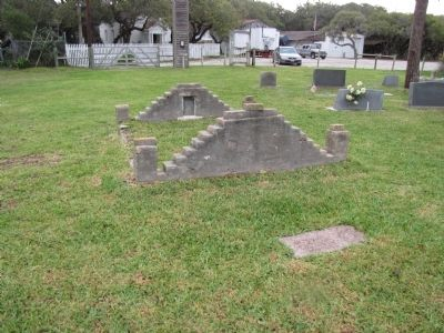 John Fagan gravesite with marker in foreground image. Click for full size.
