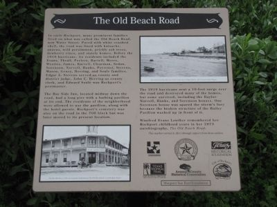 The Old Beach Road Marker image. Click for full size.