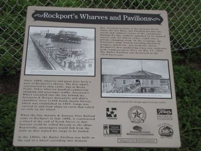 Rockport's Wharves and Pavilions Marker image. Click for full size.