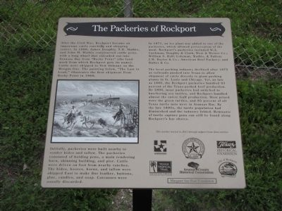The Packeries of Rockport Marker image. Click for full size.
