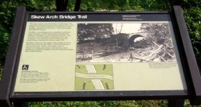 Skew Arch Bridge Trail Marker image. Click for full size.