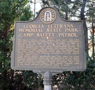 Georgia Veterans Memorial State Park Marker image. Click for full size.