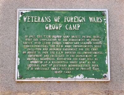Veterans of Foreign Wars Group Camp Marker image. Click for full size.