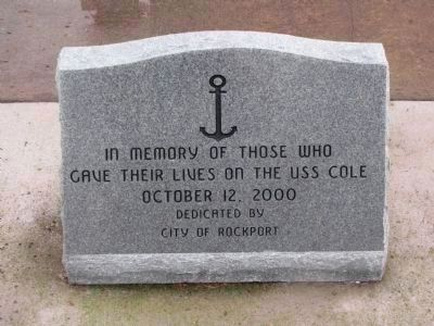 In memory of those who gave their lives on the USS Cole October 12, 2000 image. Click for full size.