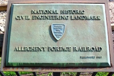 Allegheny Portage Railroad NHCEL Marker image. Click for full size.